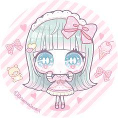 Pretty And Cute, Pretty Art, Cute Art, Kawaii Doll, Kawaii Art, Cute Anime Chibi, Kawaii Anime, Manga Anime, Anime Art