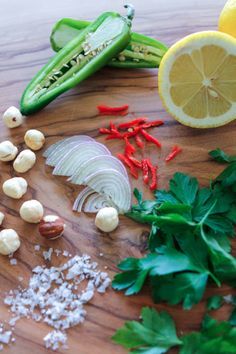 The ingredients for Seared Fluke with Parsley and Hazelnuts, recipe on http://eye-swoon.com/sometimes-you-feel-like-a-nut/