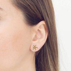 Frangipani Small Single Flower Earrings   JewelStreet US
