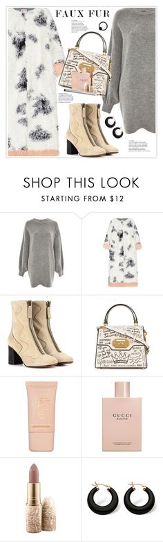 """""""Keep it Cozy: Fuzzy Coats"""" by stranjakivana ❤ liked on Polyvore featuring Treasure & Bond, Shrimps, Chloé, Dolce&Gabbana, Maybelline, Gucci, MAC Cosmetics, Palm Beach Jewelry, Laura Mercier and polyvoreeditorial"""