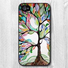 New Fashion Design Tree Of Life Pattern Protective Hard Phone Cover Skin Case For iPhone 4 4s +Screen Protector