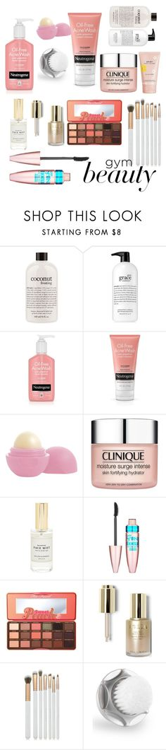 """""""Beauty Routine"""" by lillyrezek ❤ liked on Polyvore featuring beauty, philosophy, Eos, Clinique, Mullein & Sparrow, Maybelline, Too Faced Cosmetics, Stila, Spectrum and Clarisonic"""