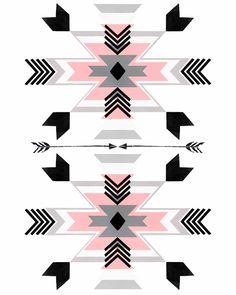Tribal Print Nursery Decor Pink Wall Art | Etsy Native American Patterns, Native American Design, Tribal Patterns, Tribal Prints, Vs Pink Wallpaper, Screen Wallpaper, Aztec Pattern Wallpaper, Navajo Art, Pink Wall Art