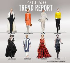 fall 2011 trend report according to elle