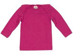 Baby und Kinder Schlupfhemd Langarm Wolle Seide pink