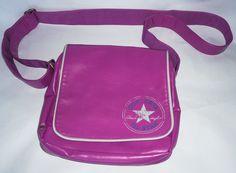 f67a3dd2c9 CONVERSE Flap Bag Vintage Pink Patch Flap Zip Cross Body Shoulder Bag  Women s