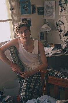 Charlie Levi at Chadwick Models captured at home by Rachel Dray as part of our documentary series 'Boys in Pyjamas' for issue 7. See the full series here.