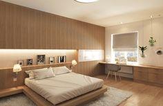 2-й вариант гостевой спальни (окончательный) : Quartos minimalistas por ARCHIForma