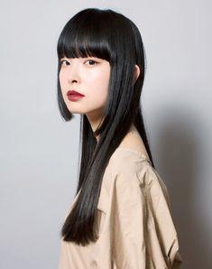 髪型 ヘアスタイル Haircuts For Long Hair, Haircuts With Bangs, Long Hair Cuts, Straight Hairstyles, Funky Hairstyles, Formal Hairstyles, Asian Short Hair, Long Black Hair, Dark Hair