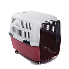 43 Quot Heavy Duty Metal Dog Cage Kennel W Wheels Portable Pet