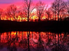 Sunset on the river Old Greenville Campground MO