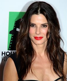 Sandra Bullock Hairstyle - Casual Long Wavy. Click on the image to try on this hairstyle and view styling steps!