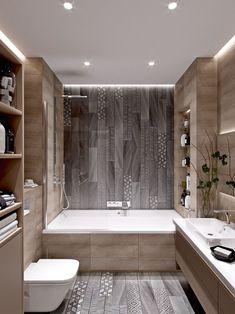 Stunning Cute Minimalist Bathroom Design Ideas For Your Inspiration. - Stunning Cute Minimalist Bathroom Design Ideas For Your Inspiration. Minimalist Bathroom Design, Minimal Bathroom, Modern Bathroom Design, Bathroom Interior Design, Bathroom Designs, Modern Bathrooms, Bath Design, Classic Bathroom, Modern Bathtub