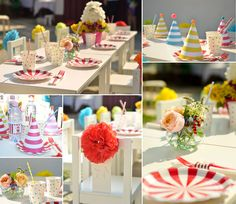 Petrecere Maria Circus Party, Table Decorations, Furniture, Home Decor, Decoration Home, Room Decor, Home Furnishings, Home Interior Design, Dinner Table Decorations