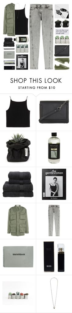 """""""//military green//"""" by lion-smile ❤ liked on Polyvore featuring T By Alexander Wang, BCBGMAXAZRIA, Millefiori, Christy, Faith Connexion, Kenzo, HUGO, Topshop and Madewell"""