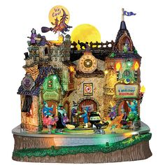 Lemax Spooky Town Collection Lil' Witches & Warlocks Nightcare