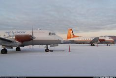 CSE and YDU resting in the yard under a light dusting of snow from earlier in the day as the sun slowly sinks behind them. - Photo taken at Whitehorse (YXY / CYXY) in Yukon, Canada on January Air North, Aircraft Pictures, Science And Nature, Planes, Aviation, Canada, Airplanes, Science And Nature Books, Plane