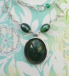Emerald Green Resin Pendant £15.00  By Lisa Jane