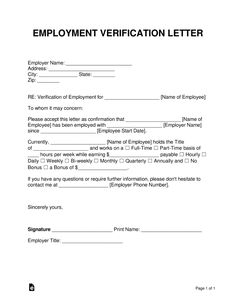 Free Employment Income Verification Letter Pdf Word Eforms Intended For Proof Of Income Letter Template - Professional Templates Ideas Printable Letter Templates, Letter Template Word, Best Templates, Writing Template, Schedule Templates, Quote Template, Printables, Printable Tags, Design Templates