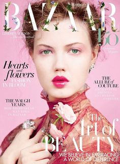 Lindsey Wixson stars in a beautiful full-of-flowers cover story by Erik Madigan Heck for the May 2017 issue of Harper's Bazaar UK, styled by Leith Clark. Lindsey Wixson stars in a beautiful full-of-flowers cover story by Magazine Front Cover, Fashion Magazine Cover, Fashion Cover, Magazine Cover Design, Magazine Covers, V Magazine, Runway Models, Vanity Fair, Marie Claire