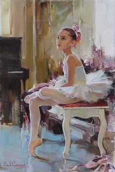 """Young Dancer Petite"" by Michael Inessa Garmash #art #dance #ballet #dinamicaballet"