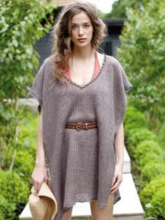 Mermaid - Knit this womens stocking stitch poncho from the Pure Linen Collection, designed by Lisa Richardson using the sumptuou...