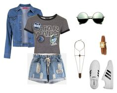 """""""toop jeans"""" by maylasouza16 ❤ liked on Polyvore featuring Boohoo, Topshop, adidas, Revo and Gucci"""