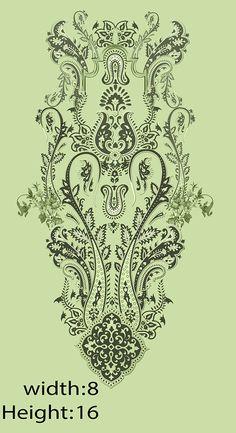 Ikat Pattern, Pattern Art, Print Patterns, Border Embroidery Designs, Embroidery Motifs, Border Design, Textile Prints, Textile Design, Photoshop Rendering
