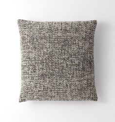 "Wool Mended Tweed Pillow Cover - Black & White 18"" x 18"" C2596 mix in anywhere (4)"