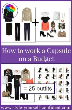 Budget capsule wardrobe #capsule wardrobe #budget wardrobe  http://www.style-yourself-confident.com/budget-capsule-wardrobe.html