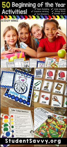 I love watching my students play these games during the first week of school! Fun Beginning of the Year and Back to School Activities! 6th Grade Activities, Icebreaker Activities, Back To School Activities, Teaching Activities, Teaching Kindergarten, Art Activities, Teaching Ideas, Back To School Night, First Day Of School