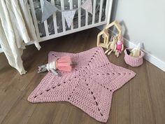 A personal favourite from my Etsy shop https://www.etsy.com/no-en/listing/550451349/handmade-crochet-powder-pink-nursery-rug