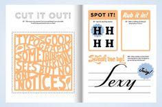 Actualité / Un cahier de vacances pour les typographes / étapes: design & culture visuelle