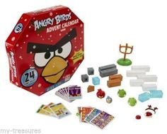 NEW Angry Birds Advent Christmas Calendar Game 24 Gifts Form Complete Game #Mattel