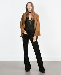 ZARA - WOMAN - SUEDE JACKET