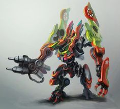 I am loving these mech designs today! Rescue mech by ~zgul-osr1113 on deviantART