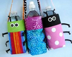 Fun water bottle holders so the kids stay hydrated in the summer.