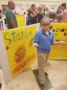 Anthony dressed up as Stan Lee and did a whole research paper on him for his 4th grade wax museum project. He loved it and looked awesome. Read the report from this 10 year old. #stanlee #marvel #comics #cosplay #waxmuseum