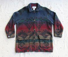 vintage 1980s L.L. Bean Southwestern blanket coat by MouseTrapVintage, $74.00