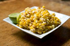 Roasted Corn with Lime, Parmesan & Chili.  Yum!