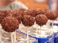 Dark Chocolate Brownie Pops Recipe : Ree Drummond : Food Network - FoodNetwork.com