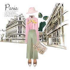 A Paris by keepfashion92 on Polyvore featuring moda, Givenchy, Sigerson Morrison, Chanel, Mark & Graham, Maison Michel, Hermès and Dolce&Gabbana