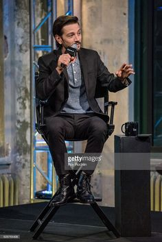 Actor Diego Luna Discusses 'Rogue One: A Star Wars Story' with The Build Series at AOL HQ on November 30, 2016 in New York City.