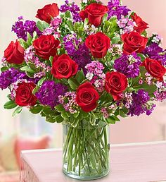 Valentine Magic will create some magic this #Valentine's with our enchanting bouquet of premium long-stem red #roses, lush dianthus and more! $79.99