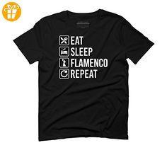 Flamenco Eat Sleep Repeat Men's Large Black Graphic T-Shirt - Design By Humans (*Partner-Link)