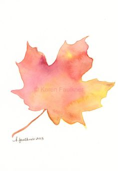Maple Silhouette watercolor by Karen Faulkner
