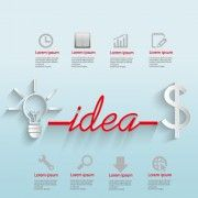 Creative business Idea template graphics vector 03