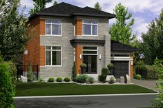 Contemporary Style House Plan - 3 Beds 1 Baths 1536 Sq/Ft Plan #25-4266 Exterior - Front Elevation - Houseplans.com