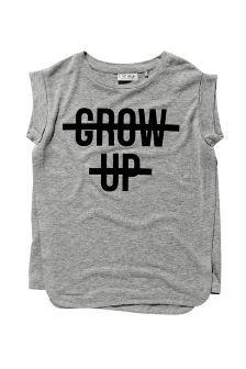 Grow Up Slogan T-Shirt (3-16yrs)