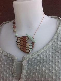 Back filled toggle polymer clay pendant by Mara DeVescovi | Flickr - Photo Sharing!
